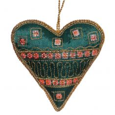 Green Hanging Heart Christmas Decoration