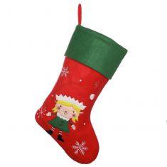 Santa's Helper Girl's Elf Christmas Stocking