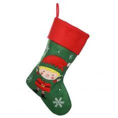 Santa's Helper Green Children's Christmas Stocking
