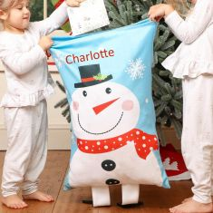 Personalised Snowman Christmas Sack