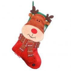 Plush Reindeer Children's Christmas Stocking