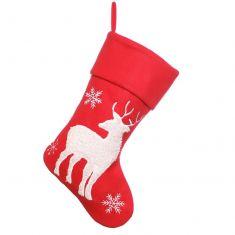 Red Reindeer Children's Christmas Stocking