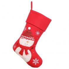 Red Snowman Children's Christmas Stocking