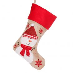 Happy Snowman Children's Christmas Stocking
