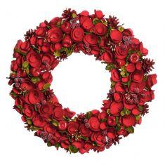 Red Crimson Rose Extra Large Wreath 18