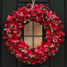 Red Crimson Rose Extra Large Wreath 17