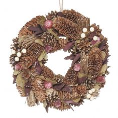 Periwinkle Pearl Christmas Wreath 12