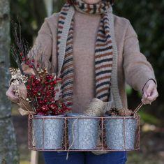 Antique Copper Wire Crafting Storage Bucket Set