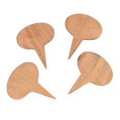 Set of 4 Wooden Cheese Markers