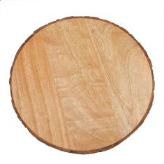 Round Natural Wooden Cheese Board