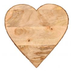 Heart Shaped Natural Wooden Cheese Board
