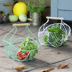 Grow Your Own Vegetables Handwoven Wire Trug Baskets