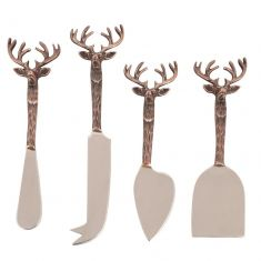 Copper Stag Head Cheese Knives