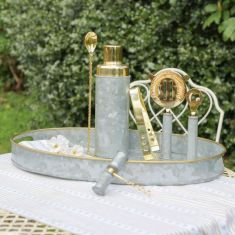 Galvanised Zinc Gold Entertaining Barware