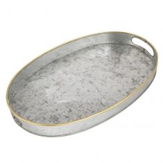 Galvanised Zinc Serving Tray