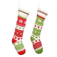 His and Hers Traditional Christmas Stockings