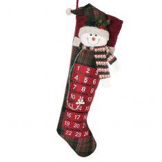 Snowman Advent Calendar Christmas Stocking