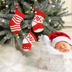 Baby's 1st Knit Christmas Tree Decorations