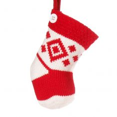 Diamond Pattern Stocking Christmas Tree Decoration