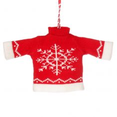 Red Festive Jumper Christmas Tree Decoration