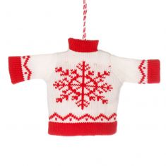 White Festive Jumper Christmas Tree Decoration