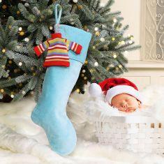 Baby's 1st Cotton Velvet Christmas Stocking