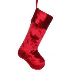 Luxury Red Velvet Christmas Stocking