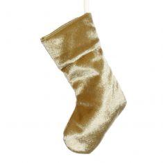 Miniature Gold Velvet Christmas Stocking