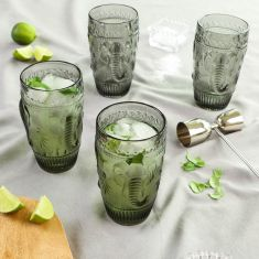 Set of 4 Elephant Grey High Ball Glasses