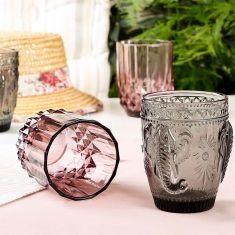 Set of 4 Embossed Summer Tumbler Glasses