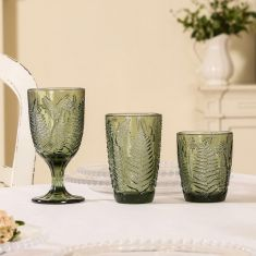 Green Leaf Glassware