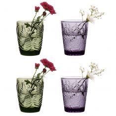 Set of 4 Botanical Glass Bud Vases