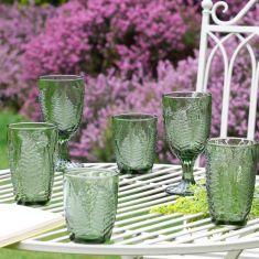 Green Leaf Glassware