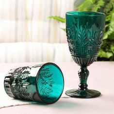 Vibrant Blue Art Deco Glassware