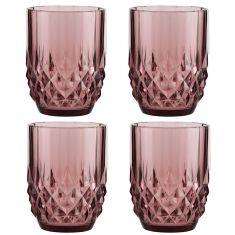 Set of 4 Diamond Pink Tumblers