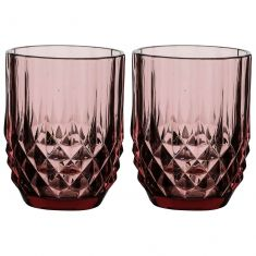 Set of 2 Diamond Pink Tumblers
