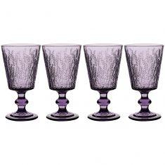Set of 4 Lavender Wine Goblets