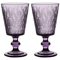 Set of 2 Lavender Wine Goblets