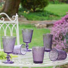 Purple Lavender Glassware