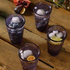 Set of 4 Purple Embossed Lavender Tumblers