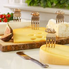 Copper Cheese Marker and Cheese Knife Gift Set