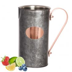 Contemporary Black and Copper Drinks Serving Jug
