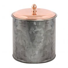 Contemporary Black and Copper Ice Bucket