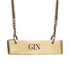 Gold Gin Decanter Tag