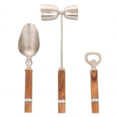 Acacia Wooden Barware Gift Set