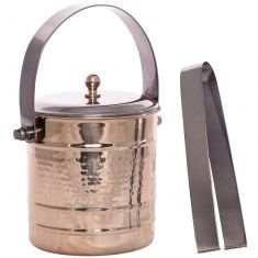 Rose Gold Ice Bucket and Tongs