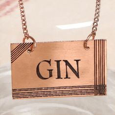 Copper Gin Decanter Tag