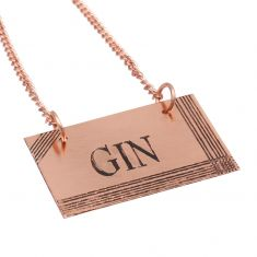 Copper Gin Decanter Tag