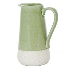 Green and White Two Tone Pitcher Vase