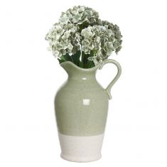 Rustic Two Tone Pitcher Jug with Flowers